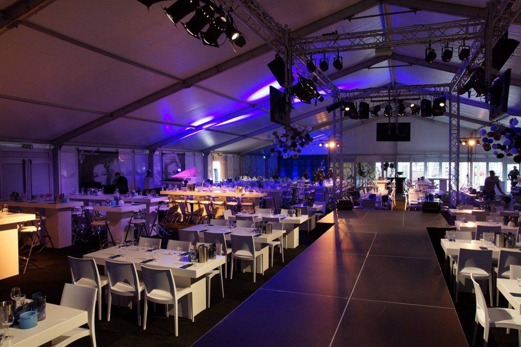 Lounge tafel rechthoekig laag wit 7