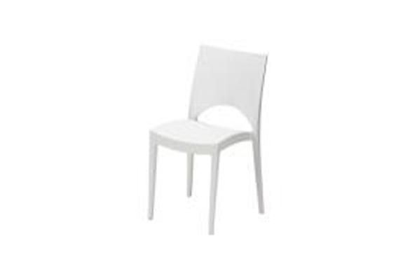 Luxe kunststof stoel