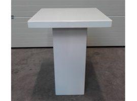 Statafel lounge vierkant wit