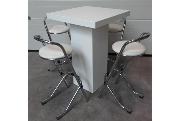 Statafel lounge vierkant wit 3