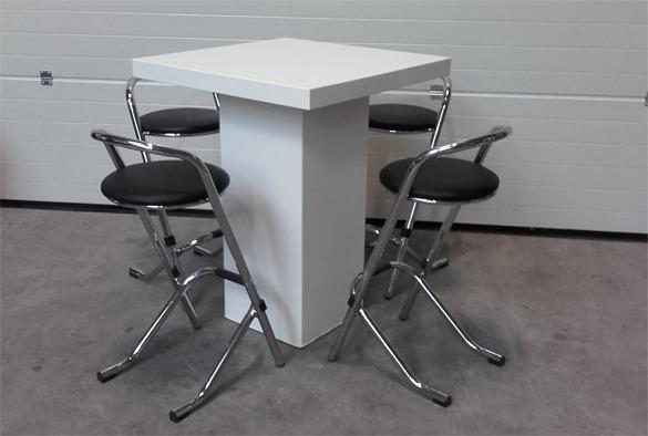 Statafel lounge vierkant wit 4