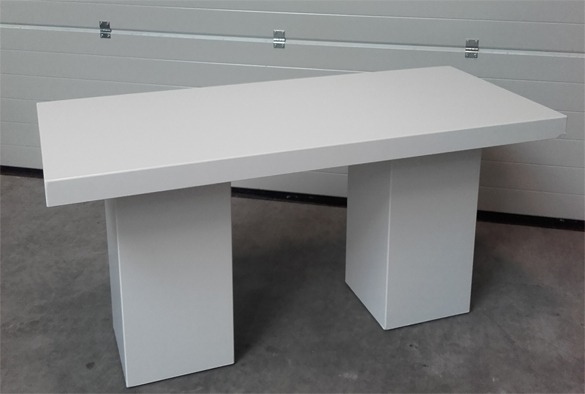 Lounge tafel rechthoekig laag wit