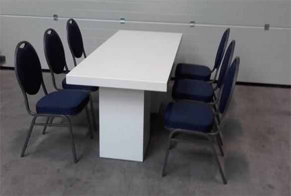 Lounge tafel rechthoekig laag wit 5
