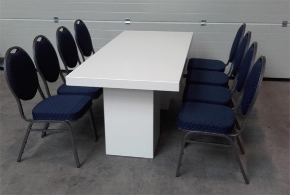 Lounge tafel rechthoekig laag wit 3