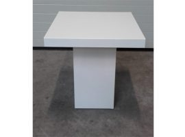 Lounge tafel vierkant laag wit