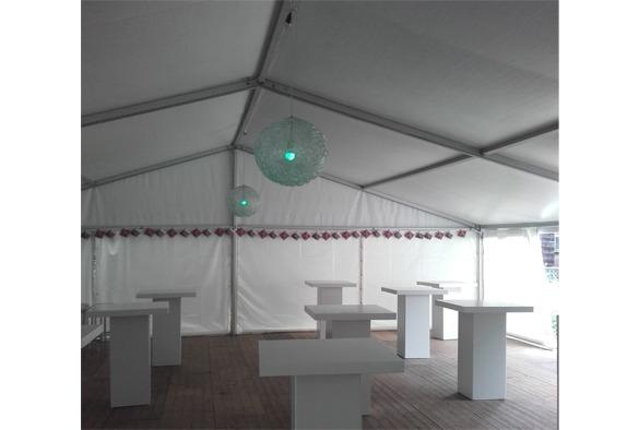 Statafel lounge vierkant wit 7
