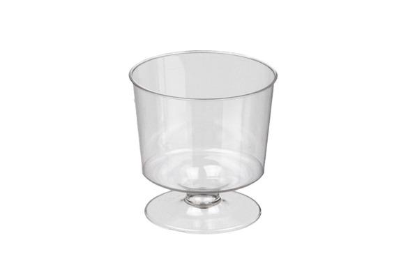 Plastic wijnglas 60 p.doos