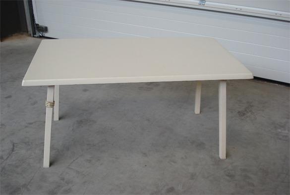 Rechthoekige tafel 120 x 70 cm