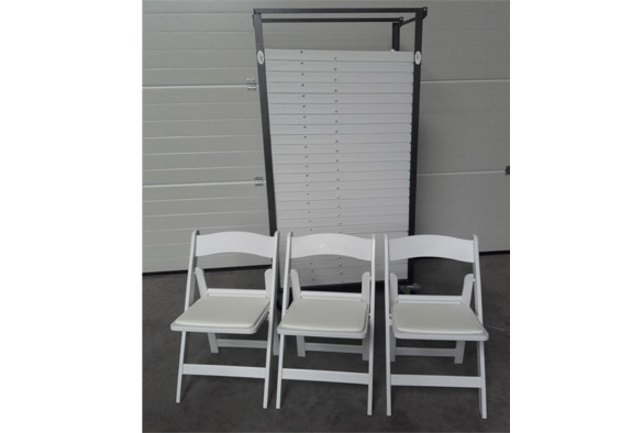 Wedding chair trouwstoel opklapbaar wit 5