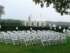 Wedding chair trouwstoel opklapbaar wit