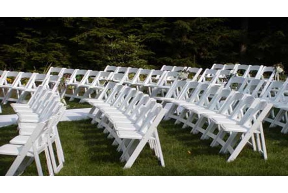 Wedding chair trouwstoel opklapbaar wit 4