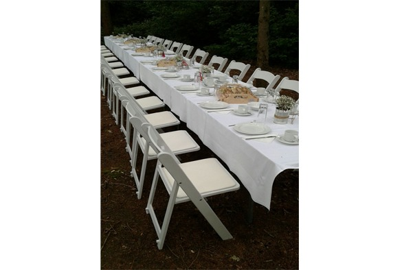 Wedding chair trouwstoel opklapbaar wit 7
